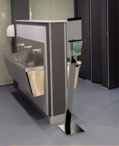 Colonnina dispenser automatica igienizzante mani